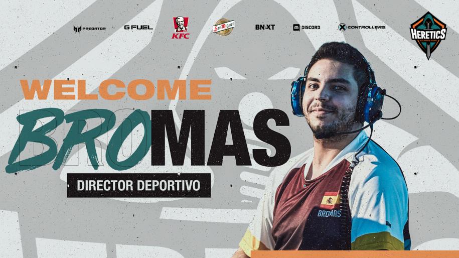 Bromas es el nuevo director deportivo de Team Heretics