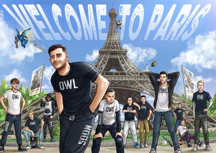 Anuncio del roster de París para la Overwatch League.